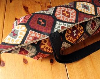 Large Yoga Mat Bag, Nevada Medallions, Tribal Print Yoga Bag, Southwestern, Clearance - 30% off