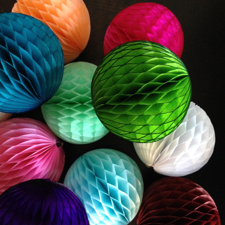 Paper Decoration Balls: HONEYCOMB BALL 8 INCH / Tissue Paper Decorations / Wedding