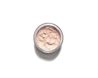 Radiant - Pale Peach Vegan Mineral Eye Highlighter / Eyeshadow - Handcrafted Makeup