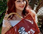 Crimson Red Tiki Glitter Bag