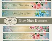 ETSY SHOP BANNERS Set No14, Multipurpose Printable images Digital Download Collage Sheets, Bookmarks, Scrapbooking Clip Art Paper, Art Cult