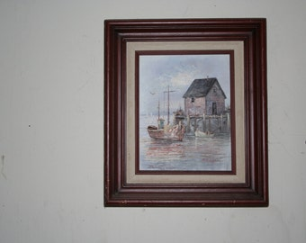 Nautical Oil painting/ A. Simpson