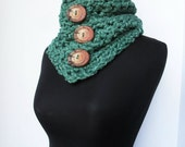 Crochet Pattern for Extremely Chunky Cowls 3 patterns in 1 Buttons Cowl Pattern Digital downlaod