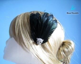 Black hair accessories black hair clip gothic wedding halloween party hair clip prom hair piece goth wedding black wedding goth bride hair
