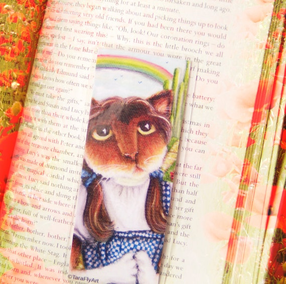 Dorothy Cat Bookmark Calico Cat Wizard of Oz Inspired Cat Bookmark