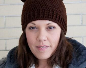 Adorable teddy bear crochet hat