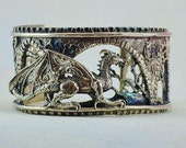 "Size Small Fantasy Dragon Bracelet ""Brackenthal's Keep"" in Sterling Silver"