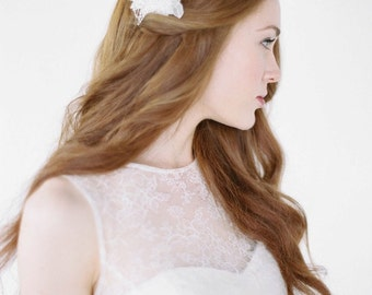 PRESTON | lace hair comb, bridal hair comb, lace bridal headpiece, small lace comb