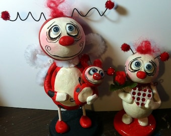 Spooky Hollow red Love bug Valentine's day doll Halloween Grimmy made to order