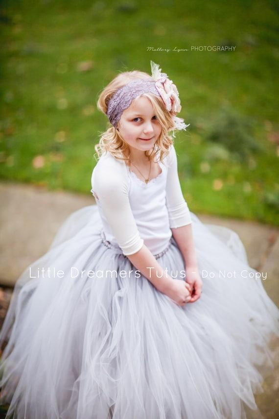 Items similar to Grey Junior Bridesmaid Tutu Skirt on Etsy