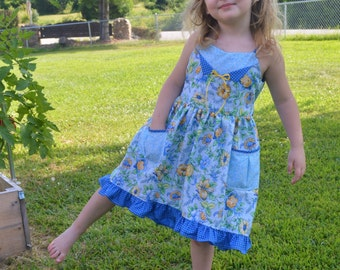 Lily Rose Hi-Lo Tank Dress PDF sewing pattern