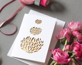 Laser Cut Lotus Flower Card