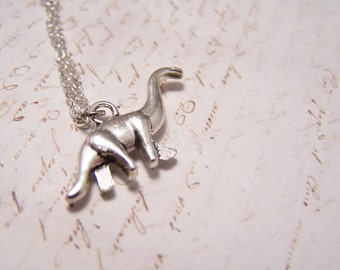 Dinosaur Necklace. Pewter Version