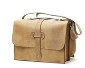 large leather briefcase satchel - custom leather messenger bag - leather carry on travel bag - convertible backpack