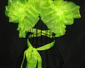 Tinkerbell Handmade Burlesque Bolero Shrug Wrap Neon Fairy tail Cosplay anime