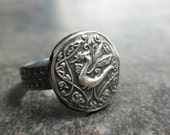 Game of Thrones Jewelry Silver Dragon Signet Ring Viking Celtic Artisan