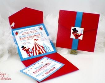 Elmo's Circus - Birthday Invitation