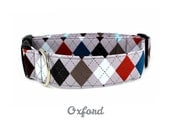 Slate Argyle Dog Collar - The Oxford - Made to Order in Your Choice of Size