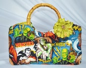 Movie Monster Bag Bamboo Handle Handbag
