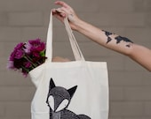 Fox Tote Bag by Gingiber // Woodland Animal Tote