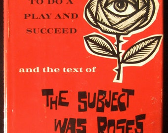 VINTAGE BOOK - 1965 The Subject was Roses - postwar drama - illustrated - Bronx, New York play