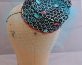 Retro Gaming Inspired Pillbox Hat made in Pacman Print Fabric