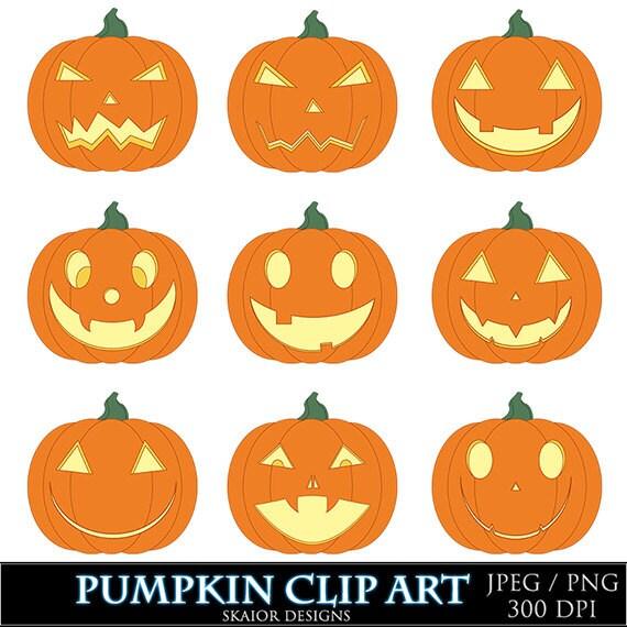 Items similar to Halloween Clipart Pumpkin Clipart Jack O ...
