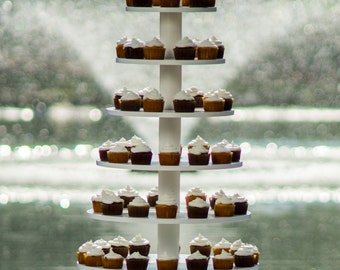 Large Cupcake Tower. Holds 200. Wedding cake stand.