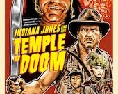 "Temple of Doom Retro Throwback 11"" x 17"" Digital Print"