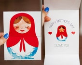 Matryoshka Mother's Day Card- Opens to reveal!