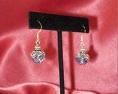 Blue Ice Crystal Aurora Borealis Earrings