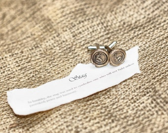 Game of Thrones Cufflinks - Baratheon Stag Deer Cuff Links - Ours is the Fury