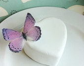 The Original EDIBLE BUTTERFLIES- Light Purple and Black - Cake & Cupcake toppers - Food Decorations