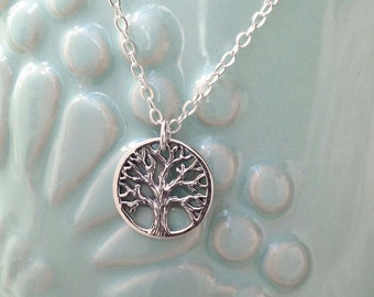 Sterling Silver Tree of Life Necklace Nature Sterling Silver Oak Tree Necklace Gold