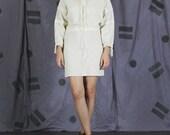 1970s Jeff Banks Vintage Hooded Mini Shirt Dress