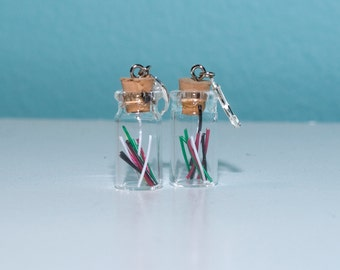 No Charge - Jar of Wires Dangle Earrings