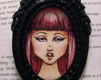 Oval Framed Mini Painting