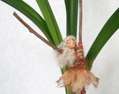 Life Spirit doll, Peach, art doll, healing, positive energy, Bohemian