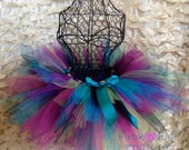 Peacock Tutu in Blue, Green, Purple, Black, Fuchsia