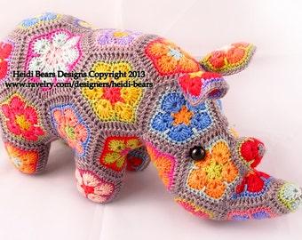 Thandi the African Flower Rhino Crochet Pattern