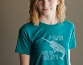 Be So Awesome People Think You're a Myth - Children's Tee Shirt - Teal