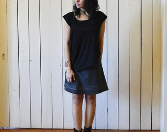 Jersey Line Skirt, Color Choice, Cotton Jersey, aline, modern style- made to order