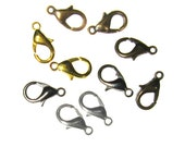 7x12mm Lead and Nickel Free Lobster Clasps -- Bronze, Gold, Silver, Gunmetal, Copper