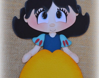 Disney Princess Snow White Premade Scrapbooking Embellishment Paper Piecing