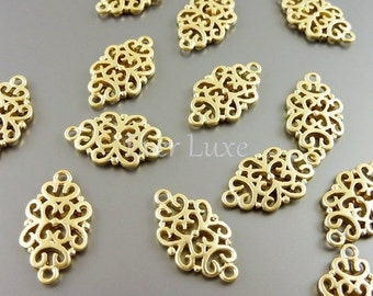 4 Matte gold 18mm oriental filigree pendants, jewelry pendants, necklace pendants, jewelry charms 1188-MG-18 (matte gold, 18mm, 4 pieces)