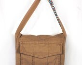 Square Thinking Upcycled Crossbody Small Messenger or Field Bag