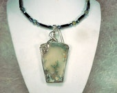 Oregon Green Limb Cast Pendant in Sterling Silver