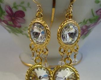Wedding Crystal Chandelier Earrings