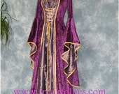 Zerlina, a Renaissance, Medieval, Pagan Gown suitable for hand fasting ceremonies.
