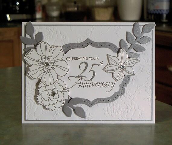 Handmade th anniversary card stampin up secret garden